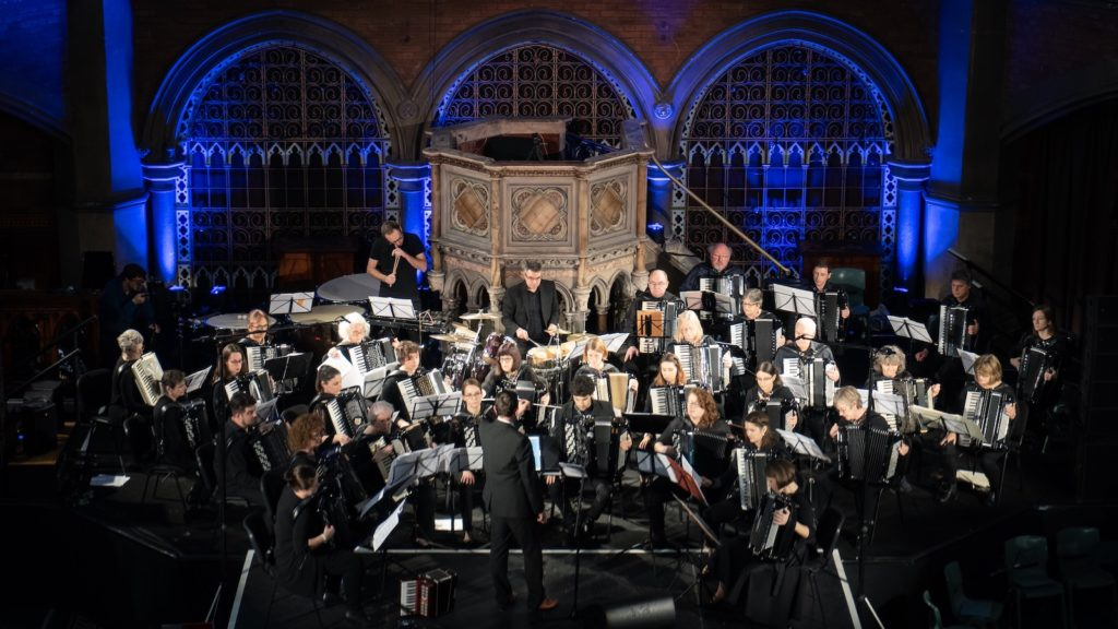 London Accordion Orchestra in concert at Union Chapel