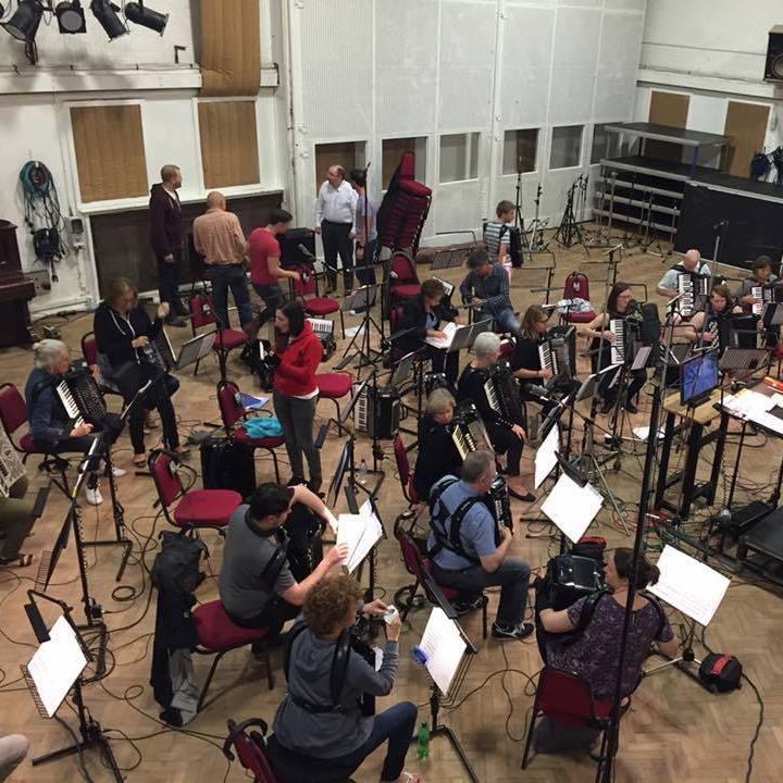 LAO in a recording studio at Abbey Road